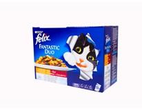 Felix Fantastic Mäso duo krmivo pre mačky 12x100 g