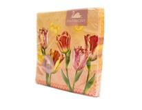 Obrúsky papierové Tulips Lace 3-vrstvové 33cm Harmony 20ks