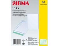 Obálka B6 kartónová 15 x 19 cm SIGMA 10ks
