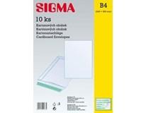 Obálka B4 kartónová 24,5 x 35 cm SIGMA 10ks