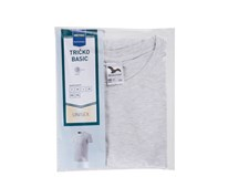Tričko Basic šedá melange pánske veľ. M Horeca Select 1ks