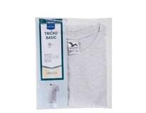 Tričko Basic šedá melange pánske veľ. L Horeca Select 1ks