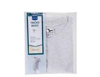 Tričko Basic šedá melange pánske veľ. XXXL Horeca Select 1ks