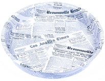 Tácka okrúhla motív noviny 32cm1ks