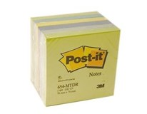 Bločky 76x76mm modro-zelené 3M Post-it 6ks