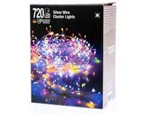 Drôt strieborný 720 Micro LED farebné svetlo 1ks