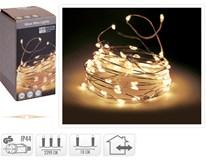 Drôt strieborný 240 Micro LED teplá žltá 1ks