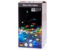Drôt strieborný 240 Micro LED farebné svetlo 1ks