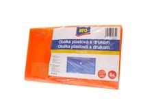 Obálka plastová s drukom DL oranžová  ARO 5ks