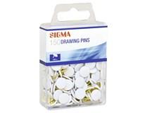 Pripináčiky biele SIGMA 150ks