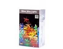 Drôt s hviezdami 40 LED modrá farba 1ks