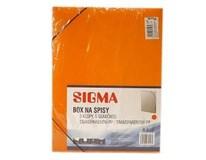 Box na spisy oranžový SIGMA 1ks