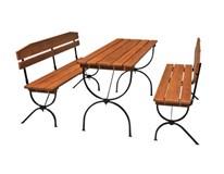 Záhradná skladacia zostava Linz 2x lavica 180x36x47,5cm+stôl 180x60x79cm 1ks