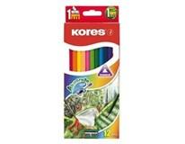 Pastelky akvarelové trojhranné 3mm Kores 12ks