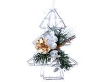 Vianočná dekorácia závesná snehová 20cm 1ks