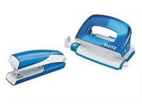 Set wow mini zošívačka a dierovačka modrý LEITZ 1ks