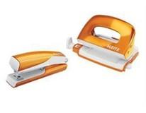 Set wow mini zošívačka a dierovačka oranžový LEITZ 1ks