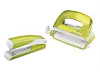 Set wow mini zošívačka a dierovačka zelený LEITZ 1ks