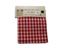 Obrus 140x140cm károvaný červený H&D 1ks