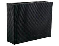 Kvetináč čierny vonkajší PE ratan 95x27x75cm Tarrington House 1ks