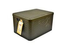 Box úložný s vekom hnedý L 1ks