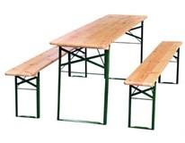 Pivná sada stôl 220x50x77cm+2x lavica 220x25x46cm Metro Professional 1ks