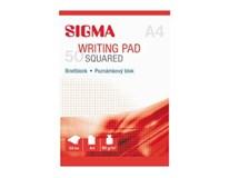 Blok poznámkový A4/50 štvorčekový SIGMA 5ks