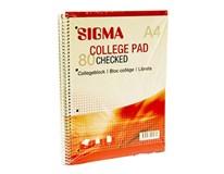Blok špirálový (bočná špirála) A4/80 štvorčekový SIGMA 5ks
