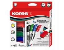 Popisovač K-Marker Plus + hubka Kores 4ks