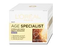 L'Oréal Age Specialist vyživujúci nočný krém 65+ 1x50 ml