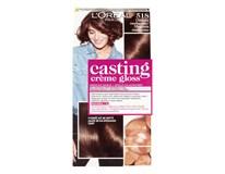 L´Oréal farba na vlasy Castin Creme Gloss 518 orieškové mochaccino 1x1 ks