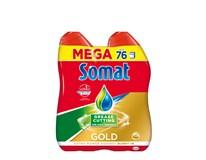 Somat gél anti grease prostriedok do umývačky riadu 2x684 ml