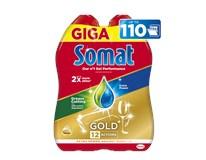 Somat Gold Grease Cuting gél prostriedok do umývačky riadu 2x990 ml