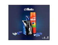 Gillette Kazeta Fusion 5 Styler strojček + gél na holenie 200ml 1x1 ks
