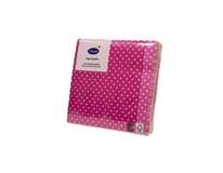 Servítky papierové Brook pink 3-vrstvové 24cm Duni 20ks