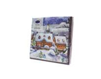 Servítky papierové Vianočné mesto 3-vrstvové 33cm Duni 20ks