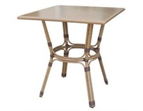 "Stôl ""Bambus"" bistro hliník/PE ratan výplet, 70x70cm, H-Line 1ks"