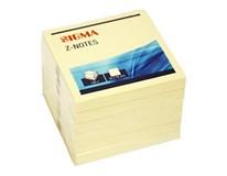 Bloček 75x75mm žltý 100listov SIGMA 6ks