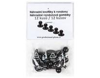 Gombíky rondon náhradné čierne Horeca Select 12ks