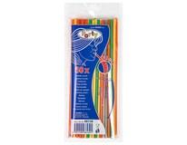 Slamky flexibilné neon 24cm 5mm 1ks