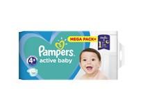 Pampers active baby S4 mega pack+ detské plienky 1x120 ks