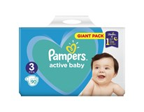 Pampers active baby S3 giant pack detské plienky 1x90 ks