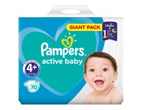Pampers active baby S4+ giant pack detské plienky 1x70 ks
