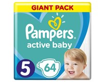 Pampers active baby S5 giant pack detské plienky 1x64 ks