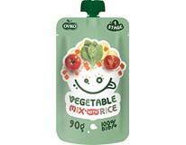 Novofruct Ovko Detská výživa zeleninová zmes a ryža BIO 8x90 g