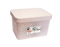 Box úložný Infinty 17l ružový s bodkami Curver 1ks
