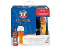 Erdinger Schneeweisse pivo 5,6% 5x500 ml SKLO + pohár