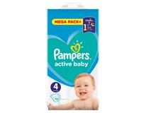 Pampers active baby S4 mega pack+ detské plienky 1x132 ks