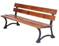 Lavička záhradná liatina,drevo 180x52,5x 40/70cm 1ks