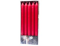 Sviečka Spa Household red 24cm Spaas 10ks